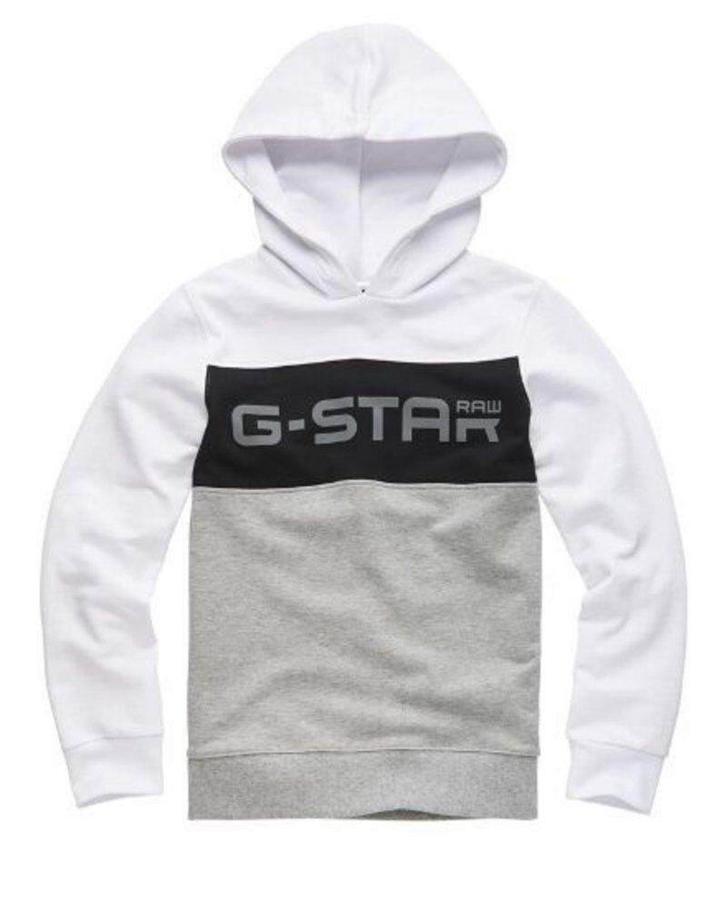 G-Star G-Star Hoody wit/grijs