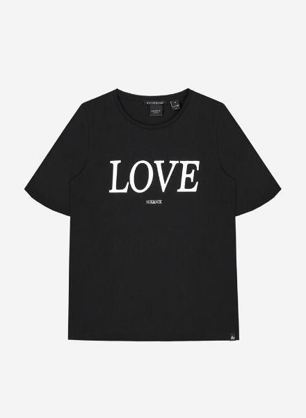Nik & Nik Lora Love T-Shirt zwart