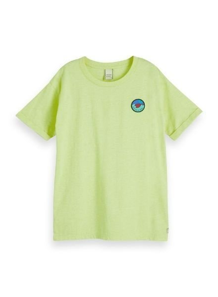 Scotch Shrunk T-shirts with badge 154845