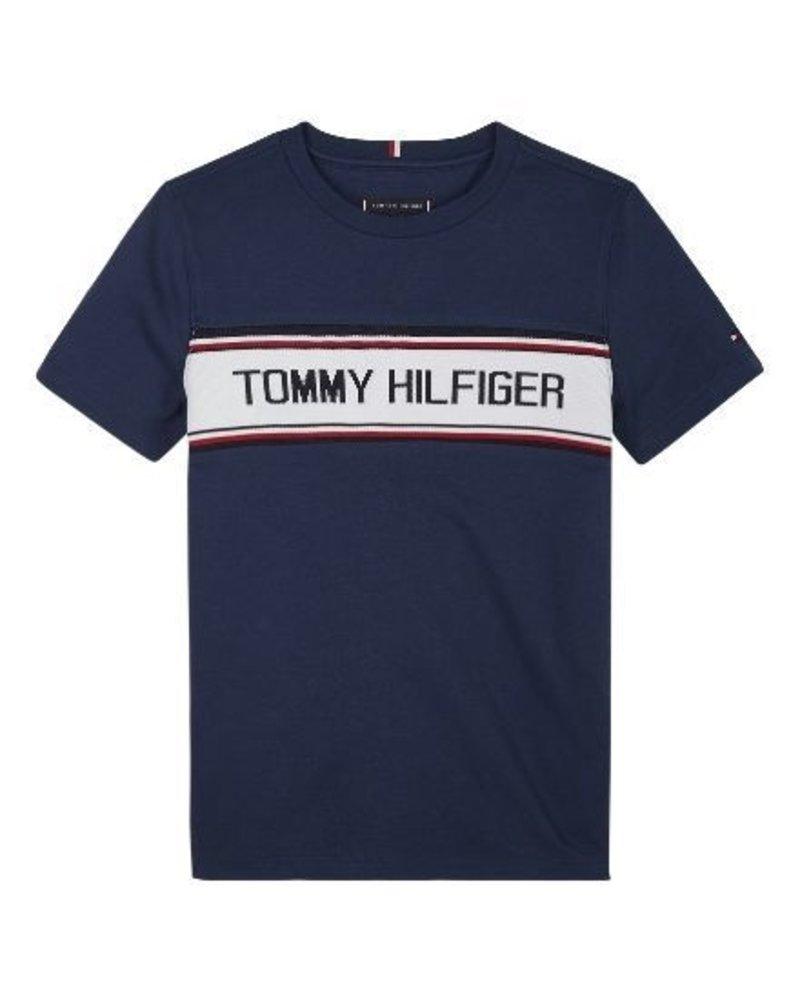 Tommy Hilfiger Tommy Hilfiger T-shirt TH intarsia blauw