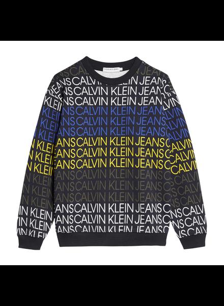 Calvin Klein Logo aop sweatshirt