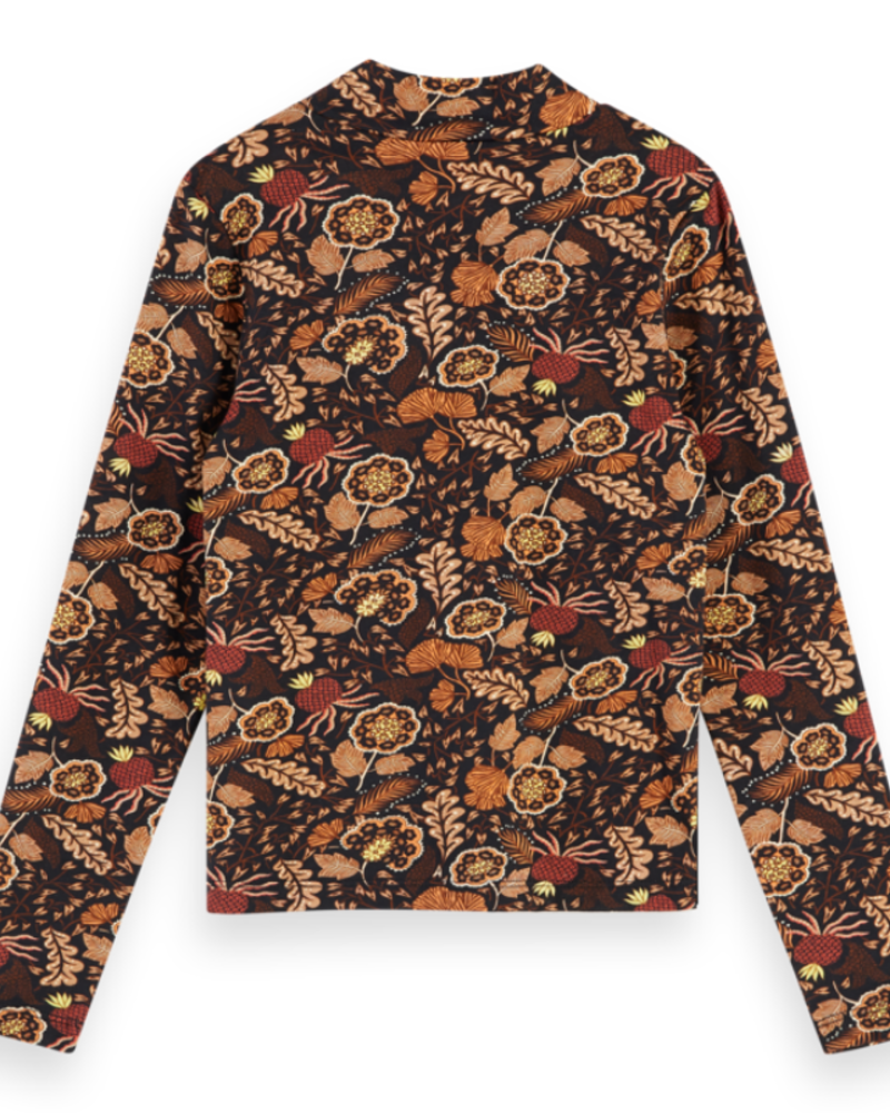 Scotch Rebelle Scotch Rebelle All-over printed long sleeve tee