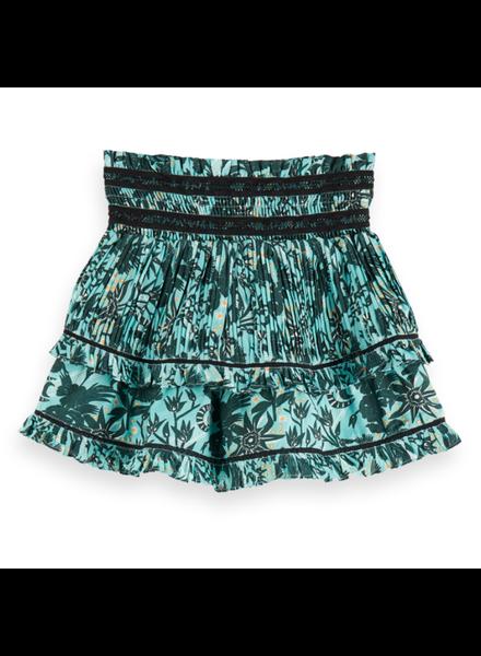 Scotch Rebelle Mini length ruffle skirt