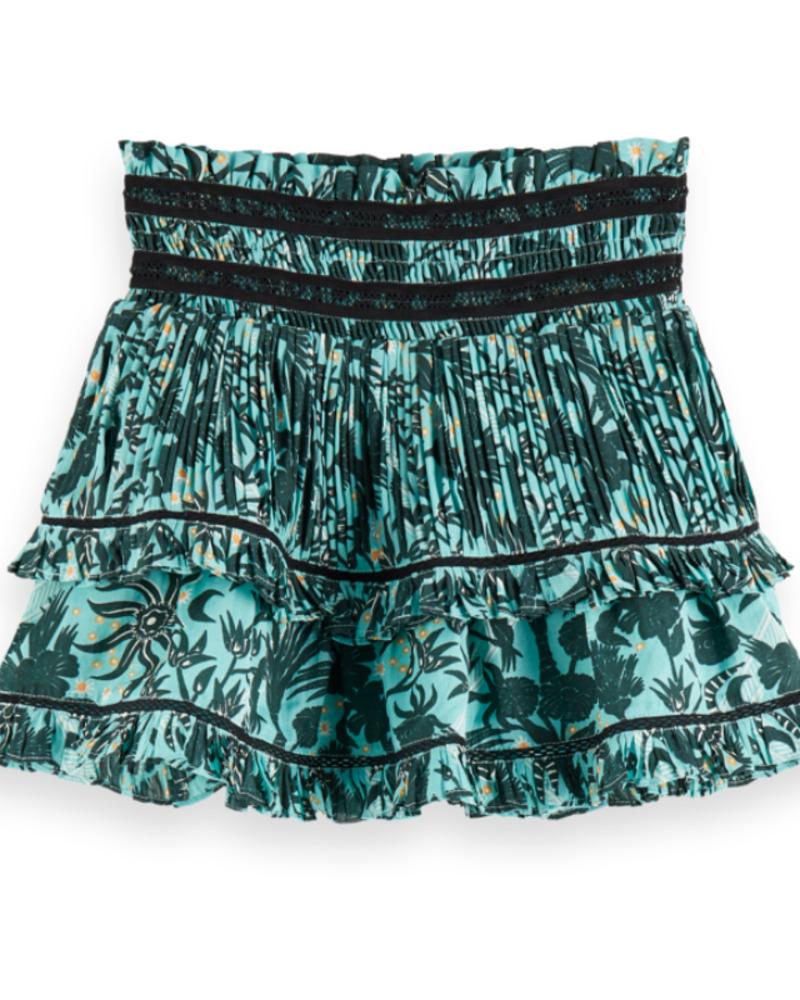 Scotch Rebelle Scotch Rebelle Mini length ruffle skirt