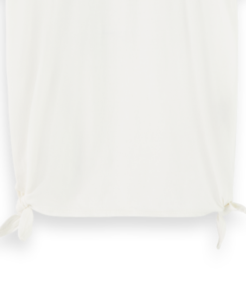 Scotch Rebelle Short sleeve tee with side knots 157313