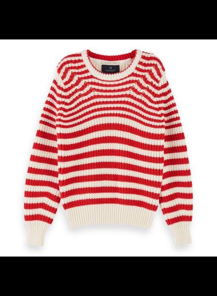 Scotch & Soda Chunky cotton blend knit pullover