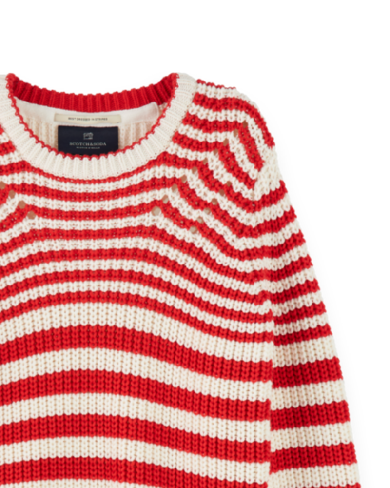 Scotch & Soda Scotch Rebelle Chunky cotton blend knit pullover