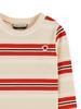 Scotch Rebelle Striped l/s tee ruffle 158863 Multi