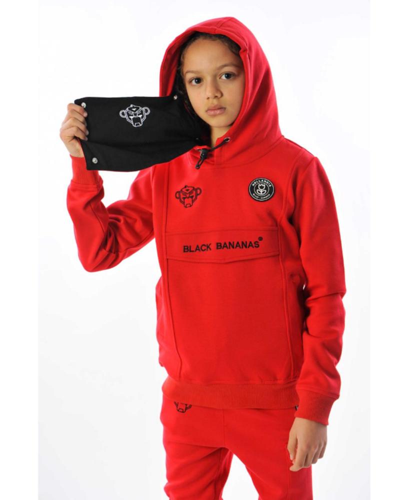 Black Bananas Black Bananas JR Mask Hoody rood