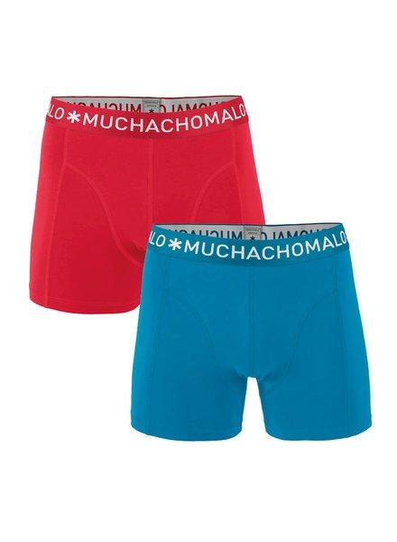 Muchachomalo Shorts 2-pack rood/blauw