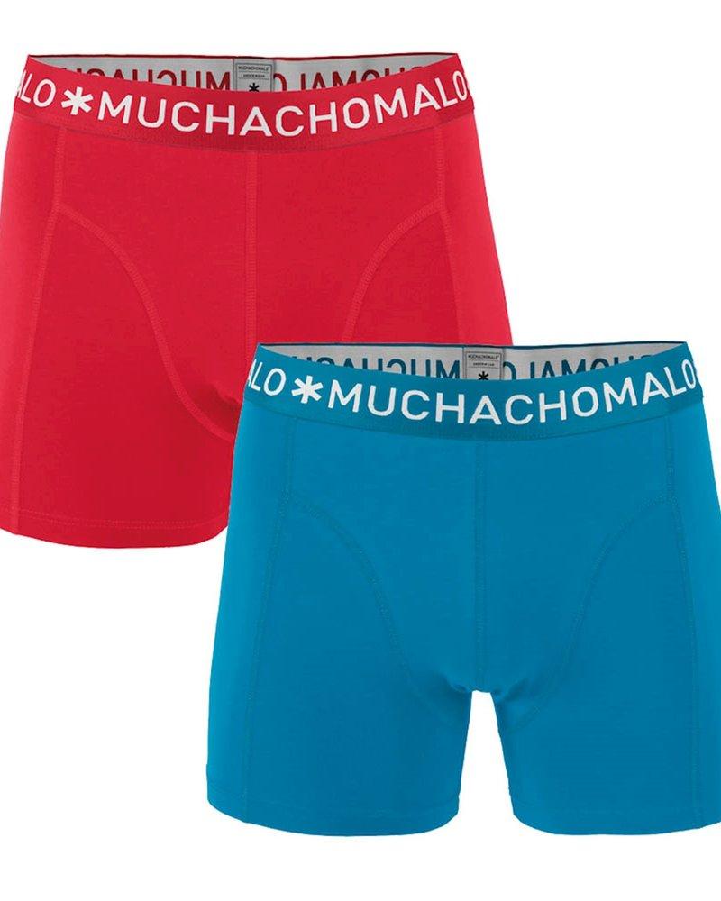 Muchachomalo Muchachomalo Shorts 2-pack rood/blauw