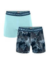 Muchachomalo Shorts 2-pack Printed Coral  blauw