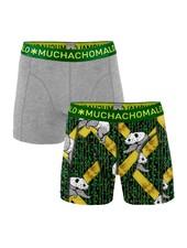 Muchachomalo Shorts 2-pack Panda  grijs