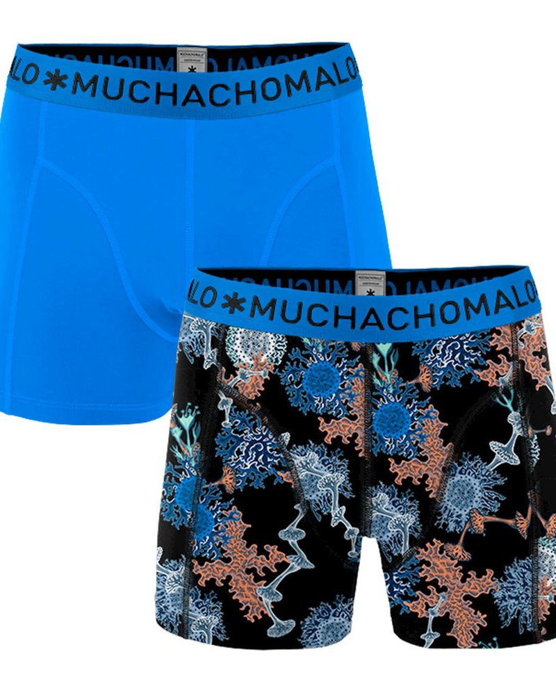 Muchachomalo Muchachomalo Shorts 2-pack Mold blauw