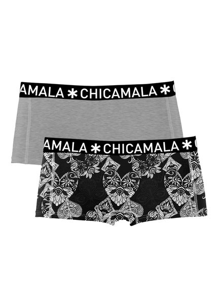 Chicamala Shorts 2-pack grijs