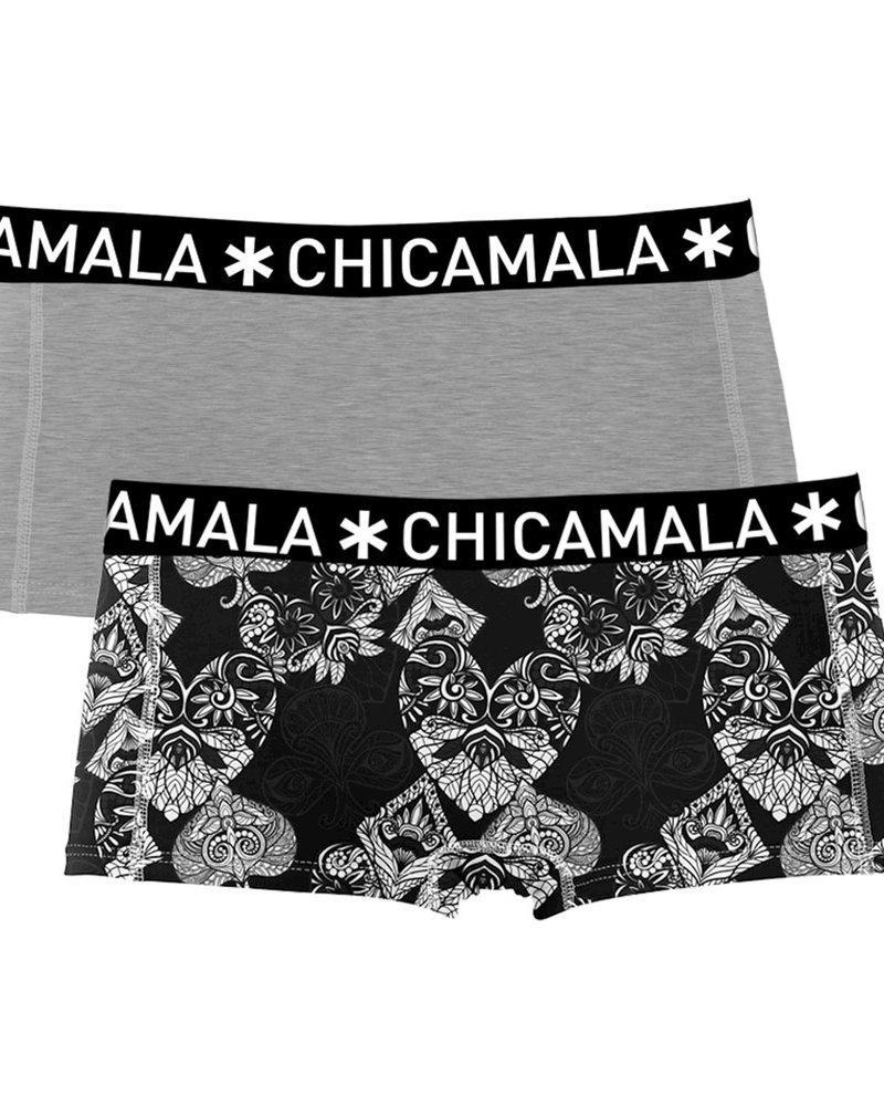 Chicamala Chicamala Shorts 2-pack grijs