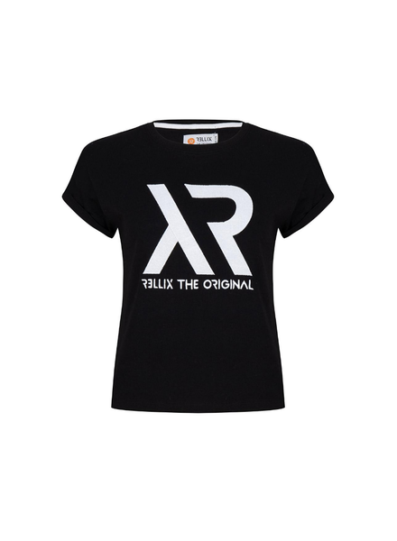 Rellix Cropped tee zwart