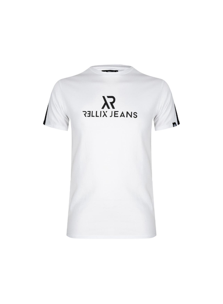 Rellix Logo tee contrast wit