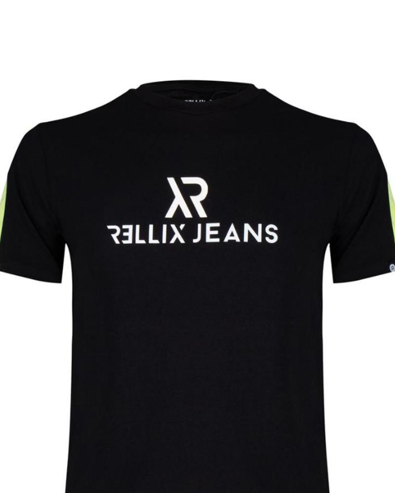 Rellix Rellix Logo tee contrast zwart