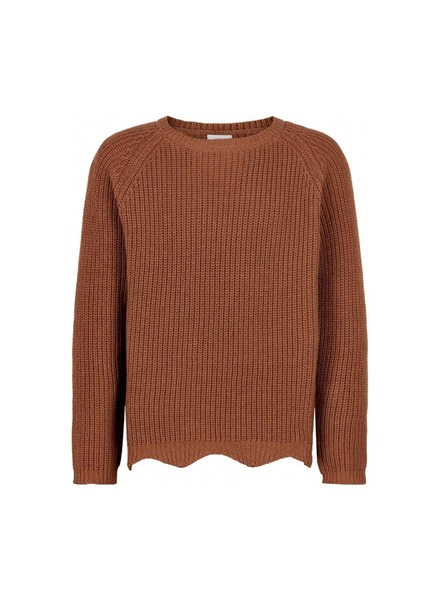 The New Olly knit sweater oranje/bruin