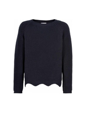The New Olly knit sweater blauw/zwart