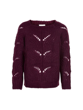 The New River knit pullover bordeaux rood