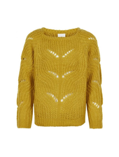 The New River knit pullover mosterd geel