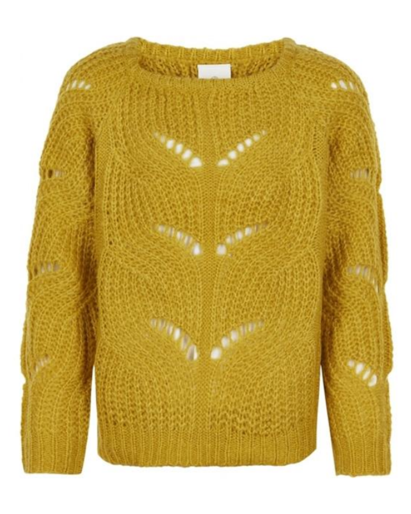 The New The New River knit pullover mosterd geel