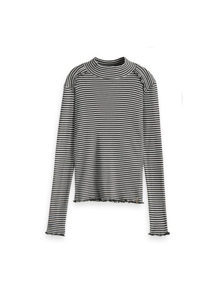 Scotch & Soda Fitted long sleeve tee stripes