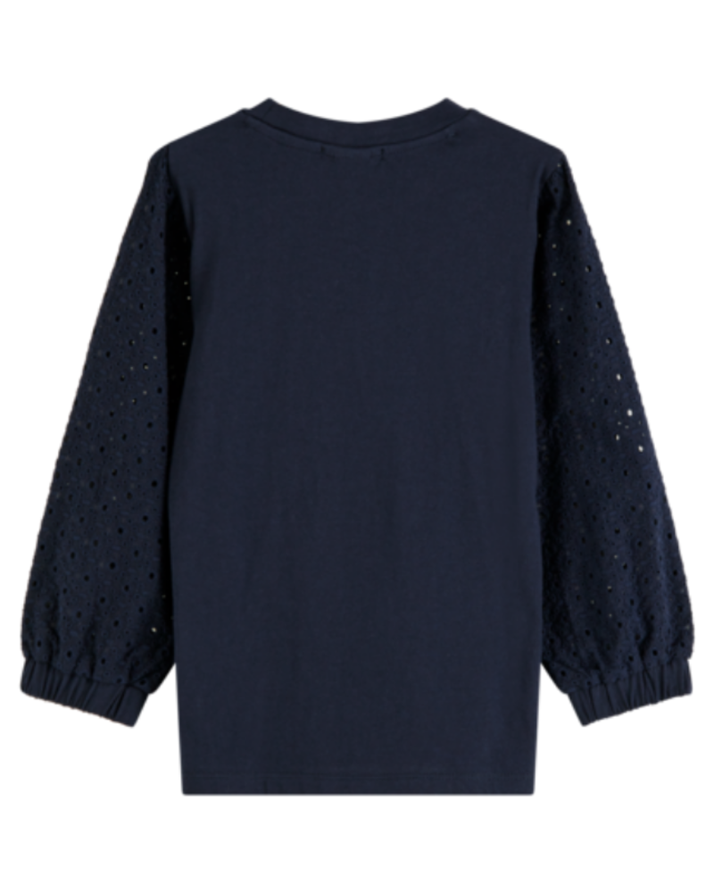 Scotch Rebelle Scotch Rebelle Jersey top volum. broidery anglaise