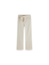 Scotch & Soda High waist wide legg cotton twill pants