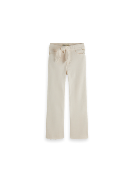 Scotch & Soda High waist wide legg cotton twill pants