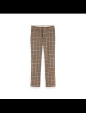 Scotch & Soda Slim fit tailored pants yarn dyed