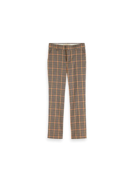 Scotch & Soda Slim fit tailored pants yarn dyed