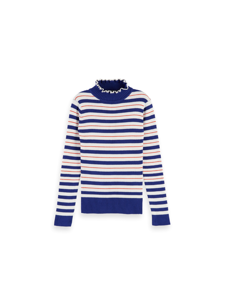 Scotch & Soda Turtle neck in knitted rib  details