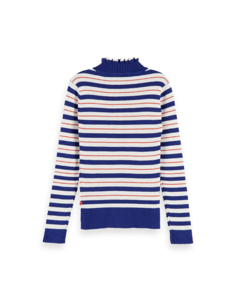 Scotch Rebelle Scotch Rebelle Turtle neck in knitted rib details