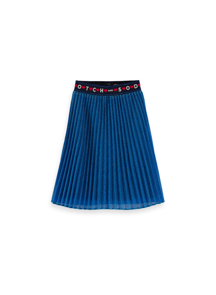Scotch Rebelle Ams Blauw pleated plisse skirt