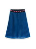 Scotch & Soda Scotch Rebelle Ams Blauw pleated plisse skirt