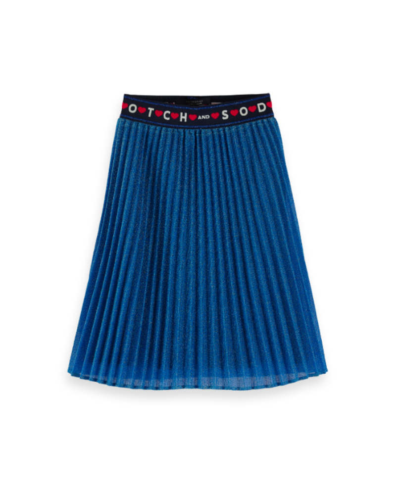 Scotch Rebelle Scotch Rebelle Ams Blauw pleated plisse skirt