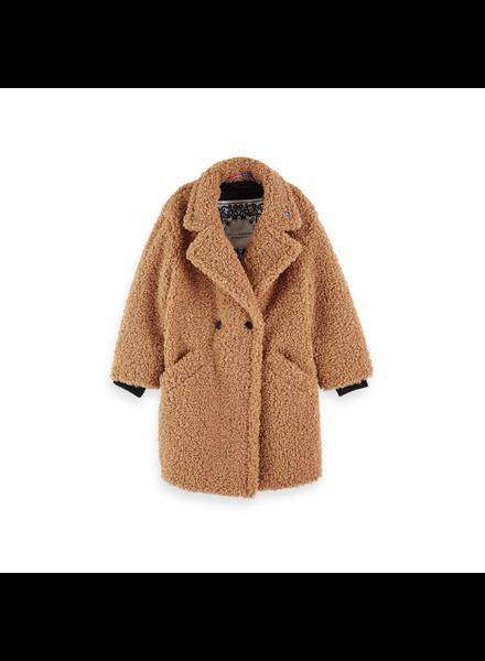 Scotch Rebelle Long length teddy jacket  sweat hoody