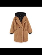 Scotch & Soda Long length teddy jacket  sweat hoody