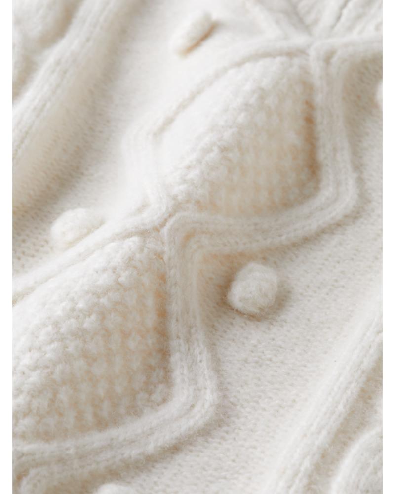 Scotch Rebelle Scotch Rebelle Half-zip cable knit pullover
