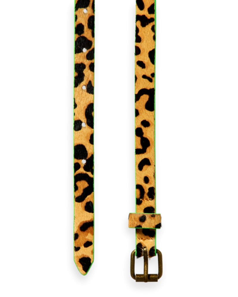 Scotch Rebelle Scotch Rebelle Leather belt all-over animal print