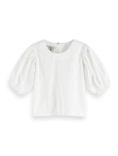 Scotch & Soda Broderie top  balloon fit sleeves