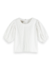 Scotch & Soda Scotch Rebelle Broderie top balloon fit sleeves