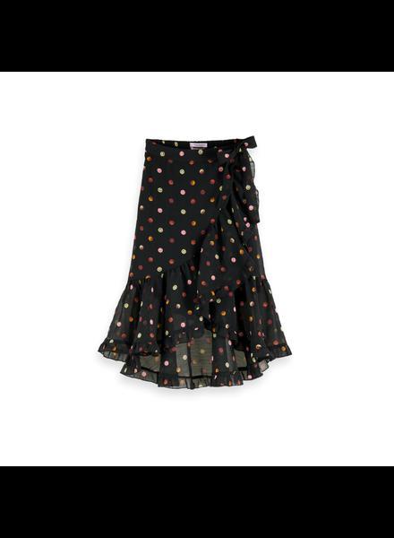 Scotch & Soda Maxi length all-over printed wrap skirt