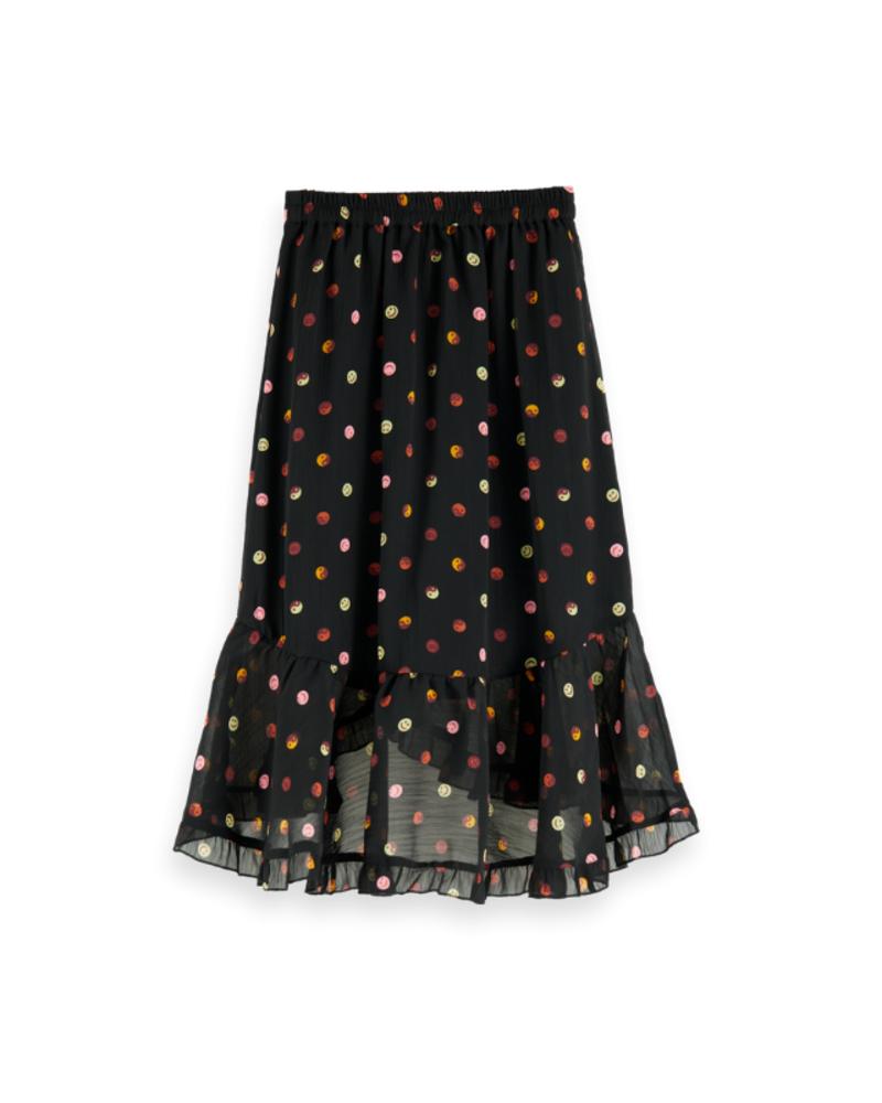 Scotch Rebelle Scotch Rebelle Maxi length all-over printed wrap skirt