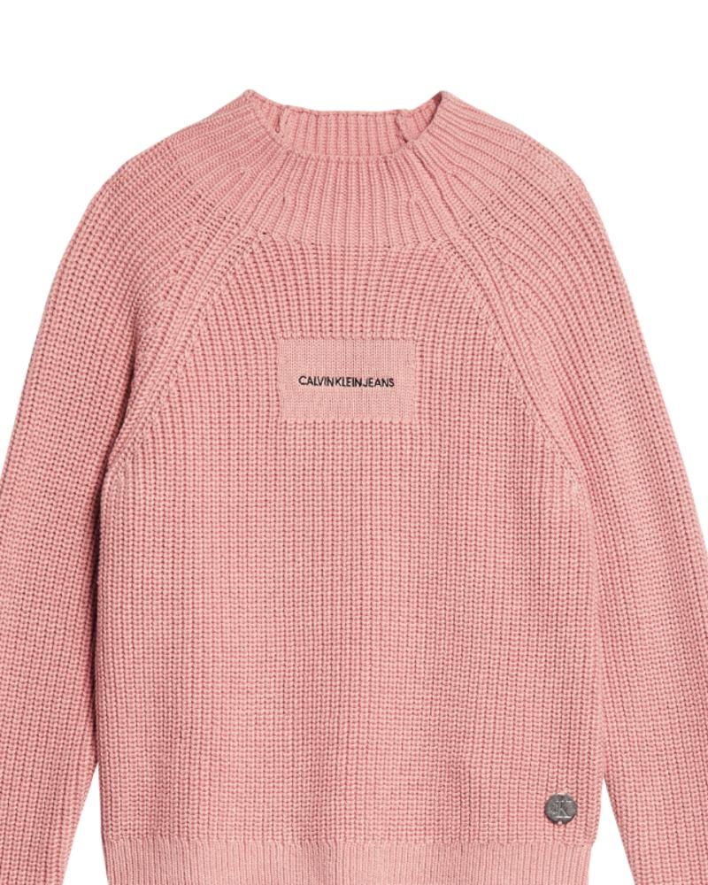 Calvin Klein Calvin Klein Oco mock neck boxy sweater Roze