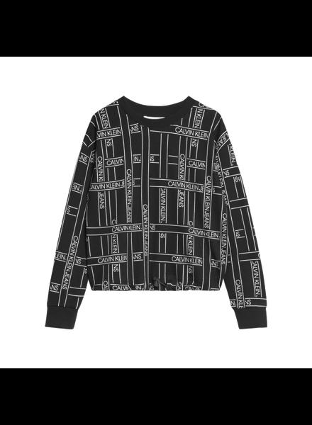 Calvin Klein AOP logo sweatshirt