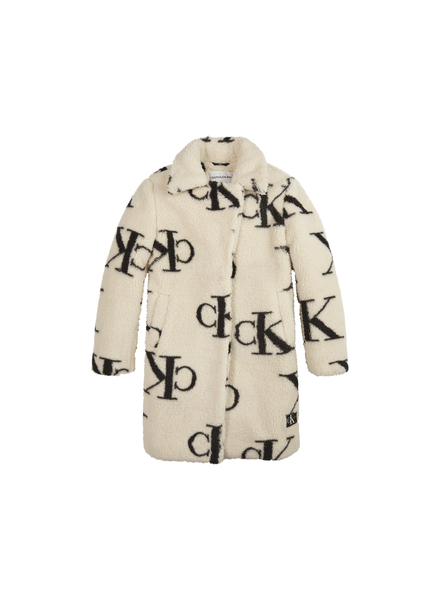 Calvin Klein Ck aop teddy coat